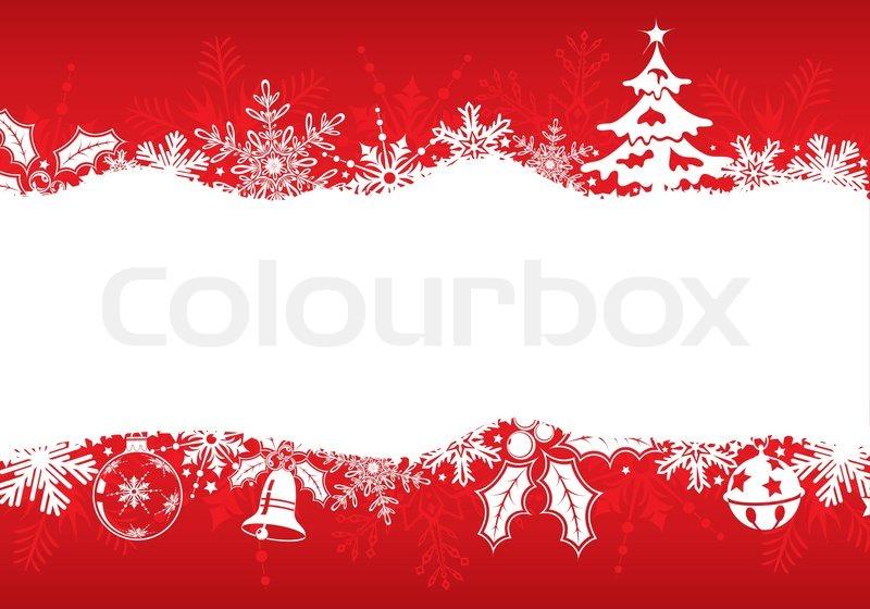 weihnachten rahmen mit baum schneeflocken und deko. Black Bedroom Furniture Sets. Home Design Ideas