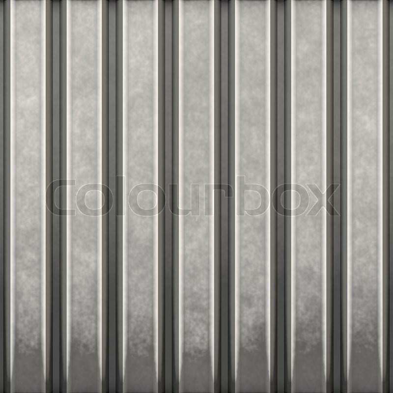 Some Corrugated Metal Building Material With Vertical