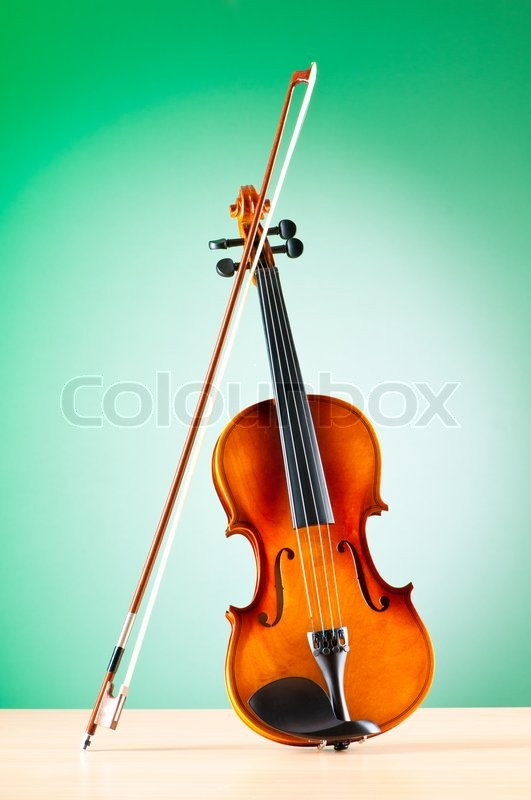Stock Bild von 'Music concept with violin'