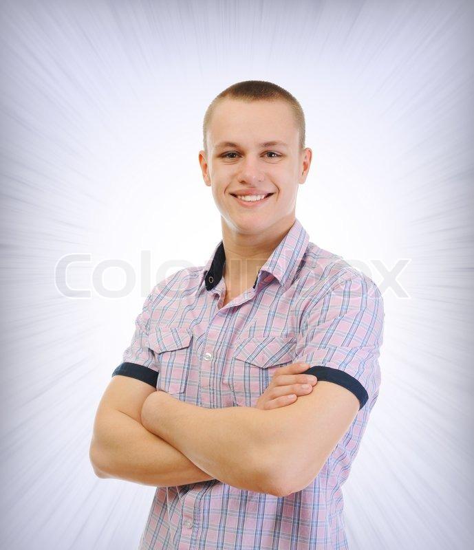 Billede af et portræt af ung mand | Stock foto | Colourbox