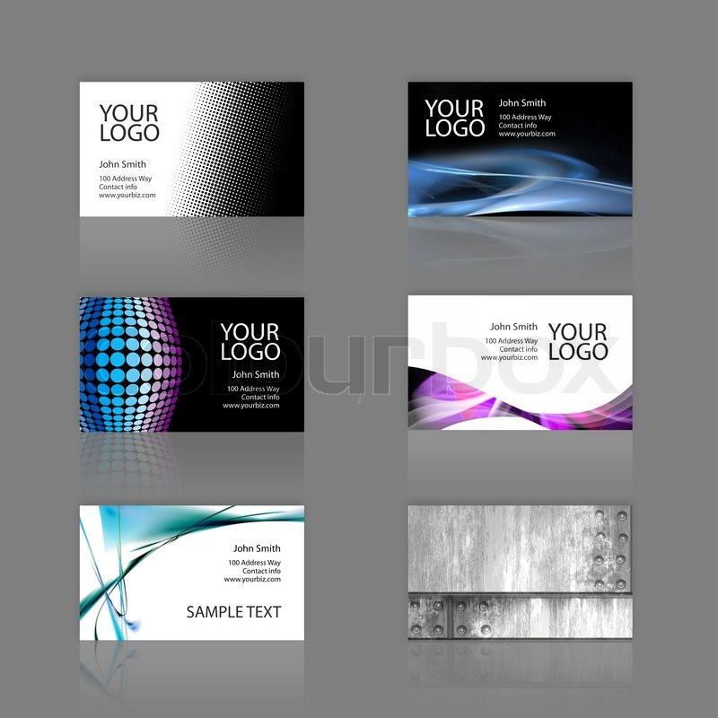 An Assortment Of Modern Business Cards Templates That Are - 2 x 35 business card template