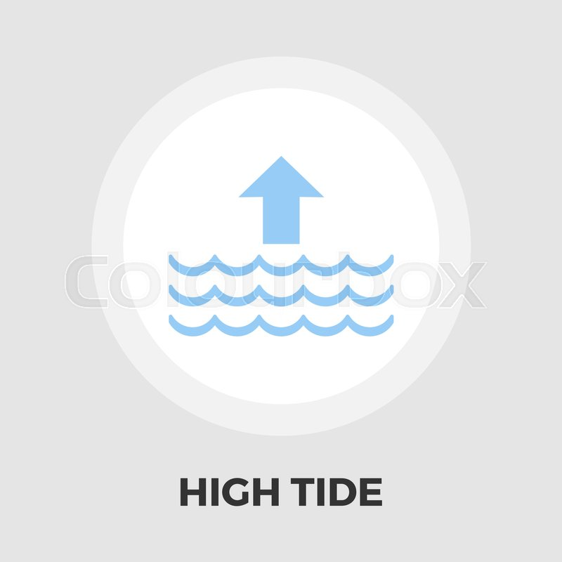 High Tide Icon Vector Flat Icon Isolated On The White Background