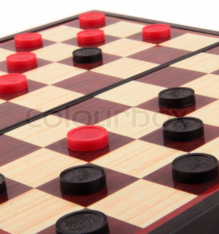Checkers Board Game | Stock Photo | Colourbox