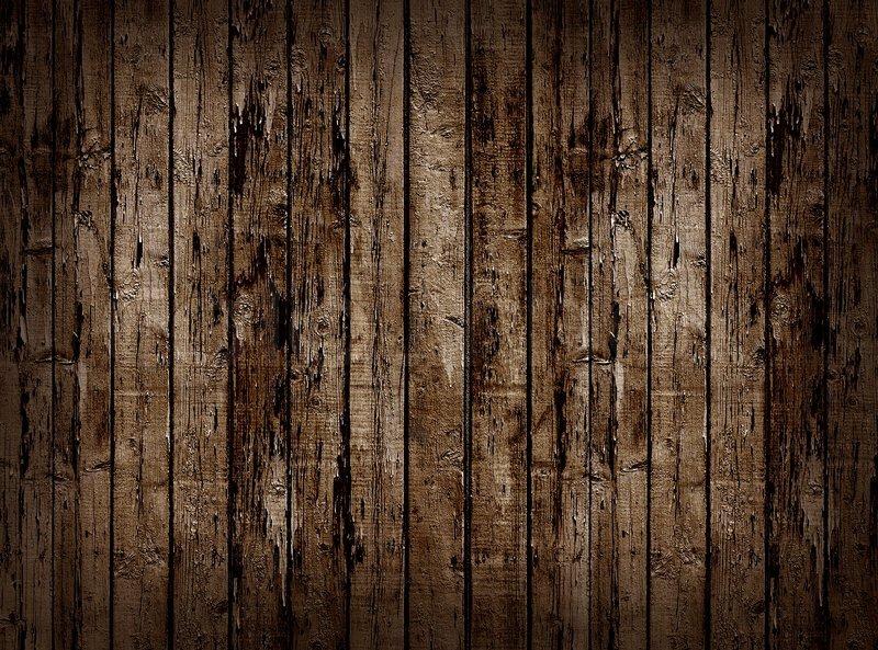 Worn Brown Wooden Planking Background Stock Photo