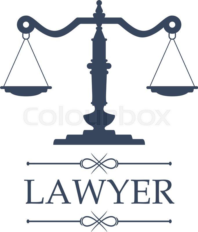 Legal Center Or Law Advocate Icon With Symbol Of Justice Scales For
