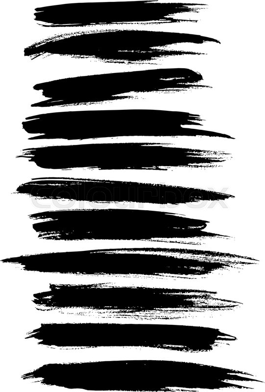 black paint lines and strokes or underlines stripes of