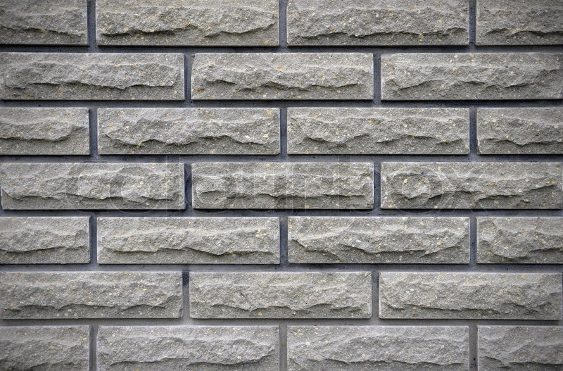 Stock Bild von 'Grau Brick Wall Background'