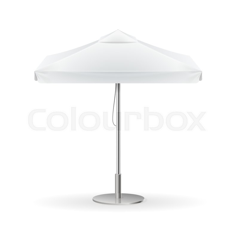 Promotional Square Advertising Outdoor White Umbrella Template Blank