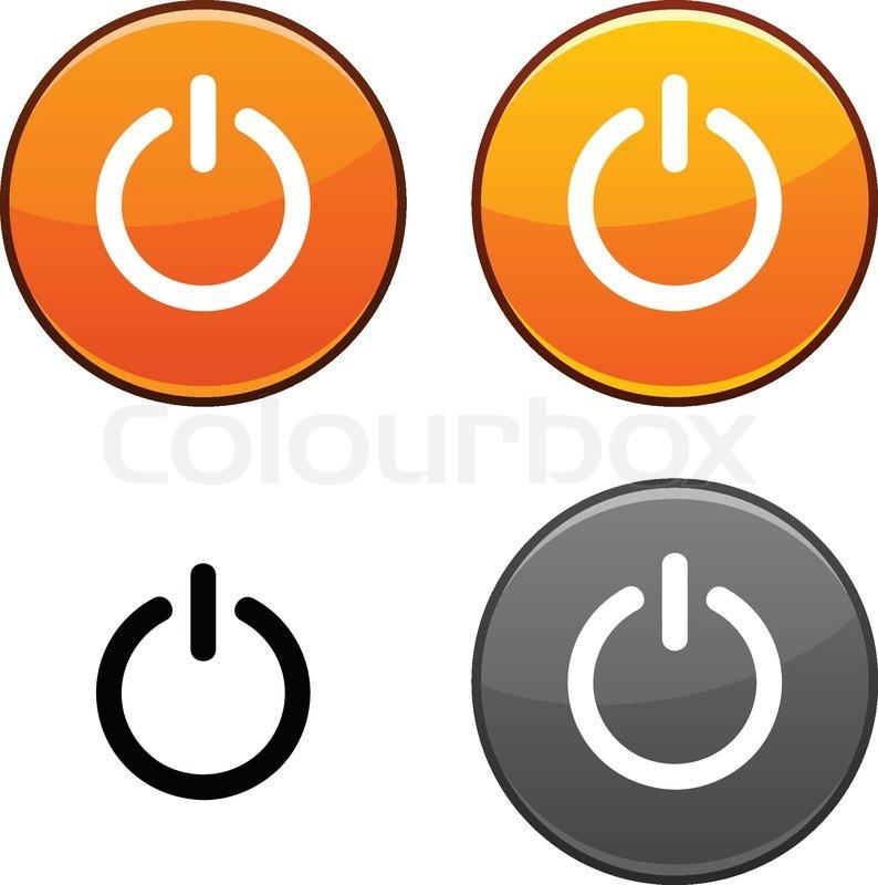 Schalter runden Tasten Schwarz -Symbol enthalten | Vektorgrafik ...
