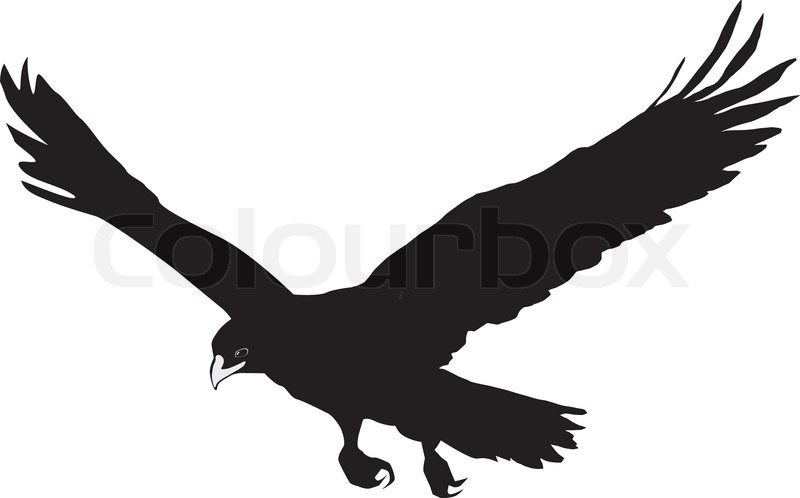 silhouette of golden eagle stock vector colourbox hawk clipart abstract hawk clipart wrestling