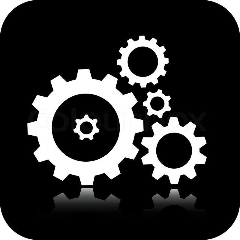 Vector gears icon | Stock vector | Colourbox