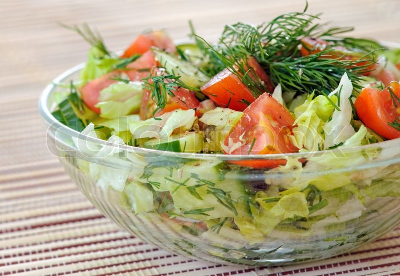 Fresh Vegetable Salad With Tomato Lettuce Cuber Fresh Vegetable Salad With Tomato Lettuce