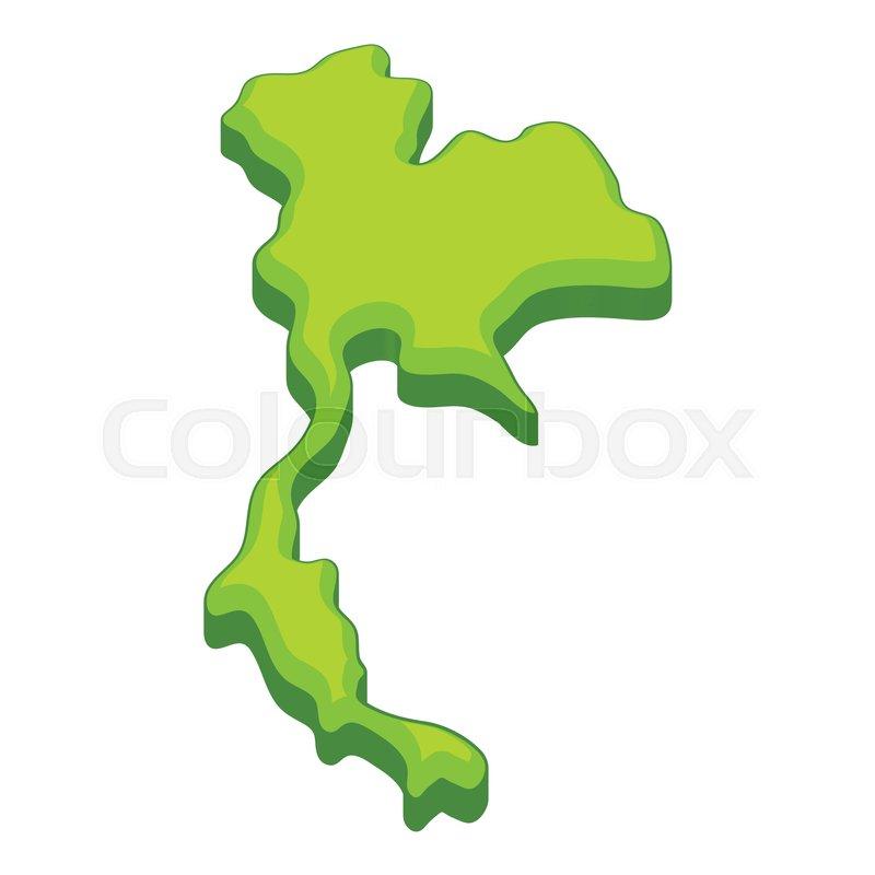 Thailand map icon. Cartoon illustration of Thailand map vector icon ...