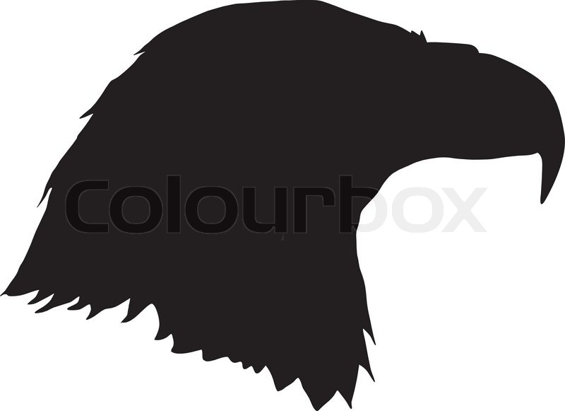 Silhouette of eagle stock vector