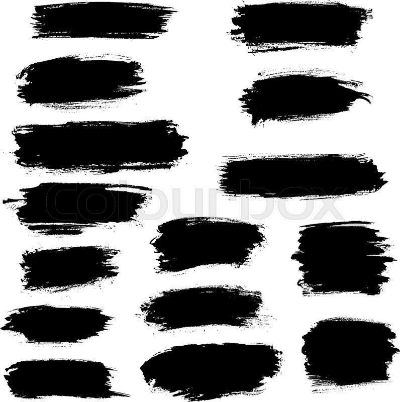 Stock Vector Of U0027Vector Black Paint Brush Strokes, Highlighter Lines Or  Felt Tip