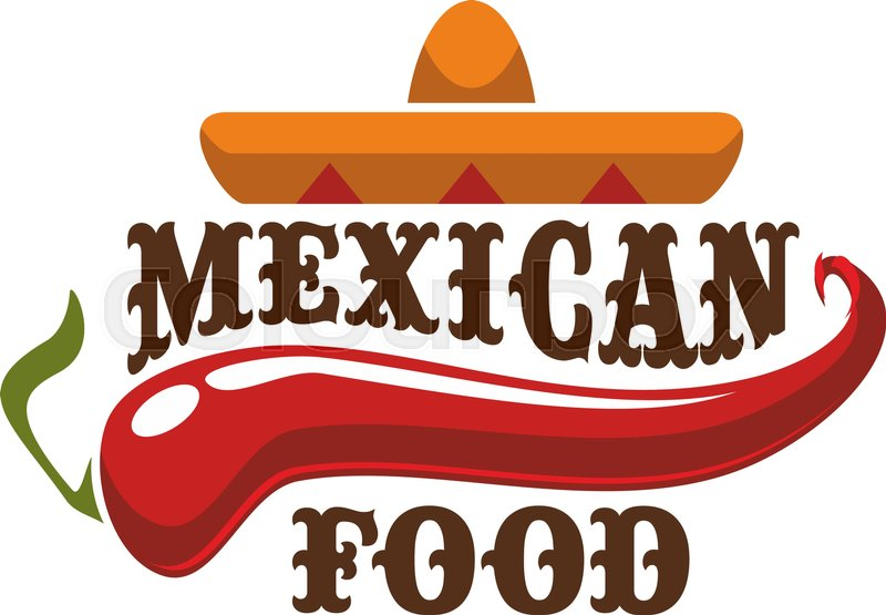 mexican spicy and hot traditional food icon badge for mexican rh colourbox com food vector pack free food vector free
