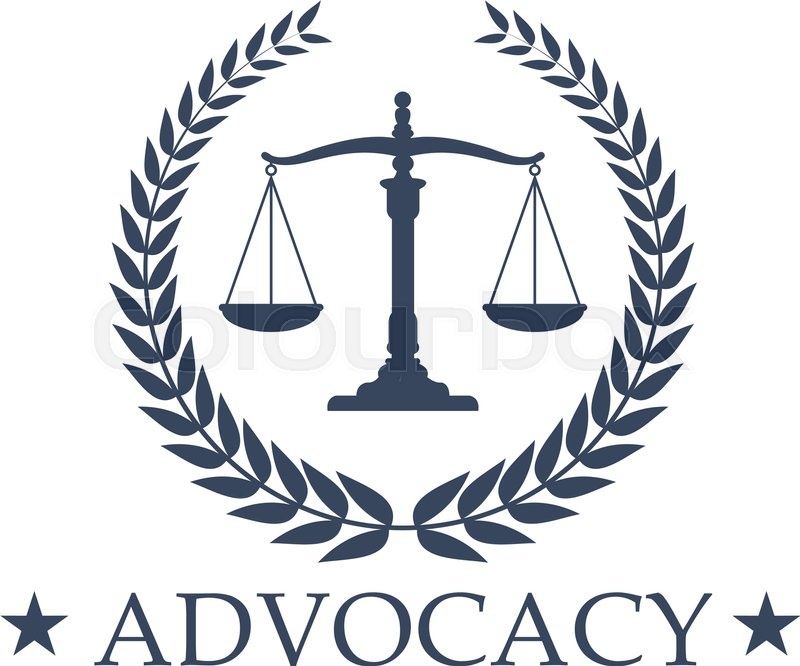 Advocacy Emblem And Symbol Scales Of Justice For Juridical Or Notary