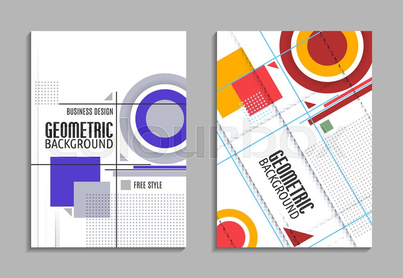 Set of business card abstract geometric design brochure title set of business card abstract geometric design brochure title sheet reative text frame surface eps10 vector flyer template design colourmoves
