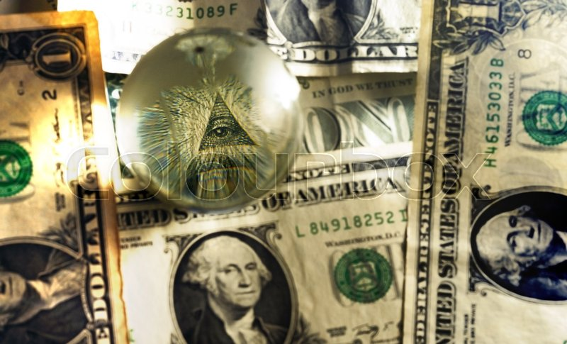 Eye Of Providence All Seeing Eye From Us One Dollar Bill Under Glass