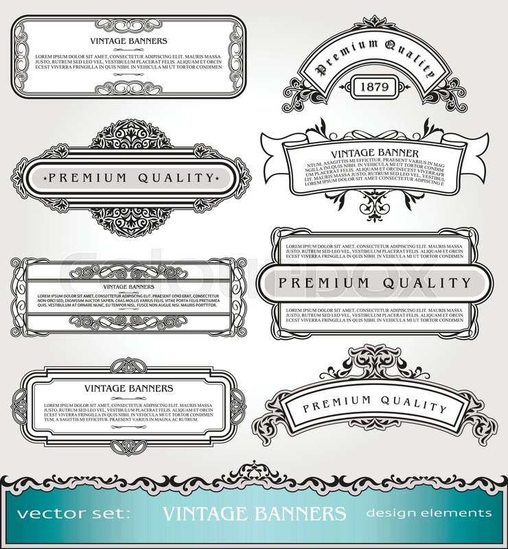 vector vintage bannersborders and frames set victorian book covers and pages decorations floral style ornamental decor creative design elements for