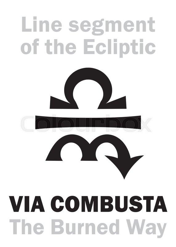 Astrology Alphabet Via Combusta The Burned Way Line Segment On