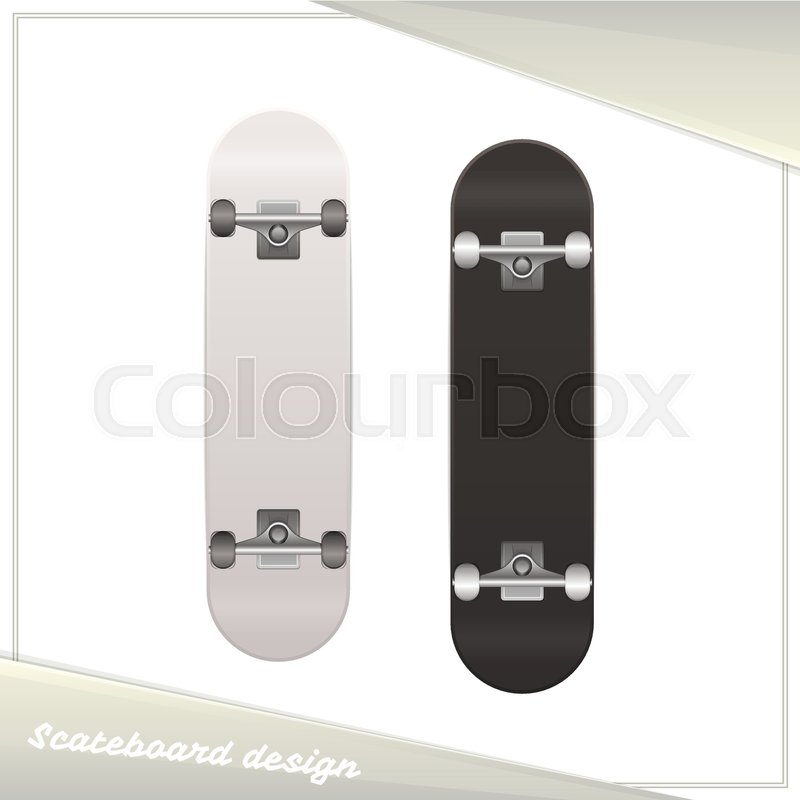 skateboard design dark and light on white background you can use