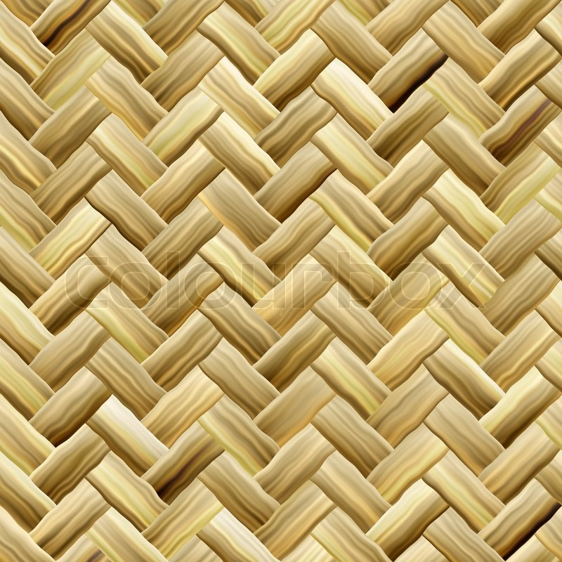 Types Of Material For Basket Weaving : A yellow woven wicker material you might see in some