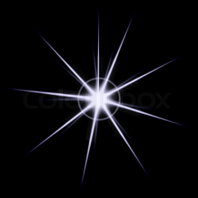 An abstract lens flare or star bursting over black This ...