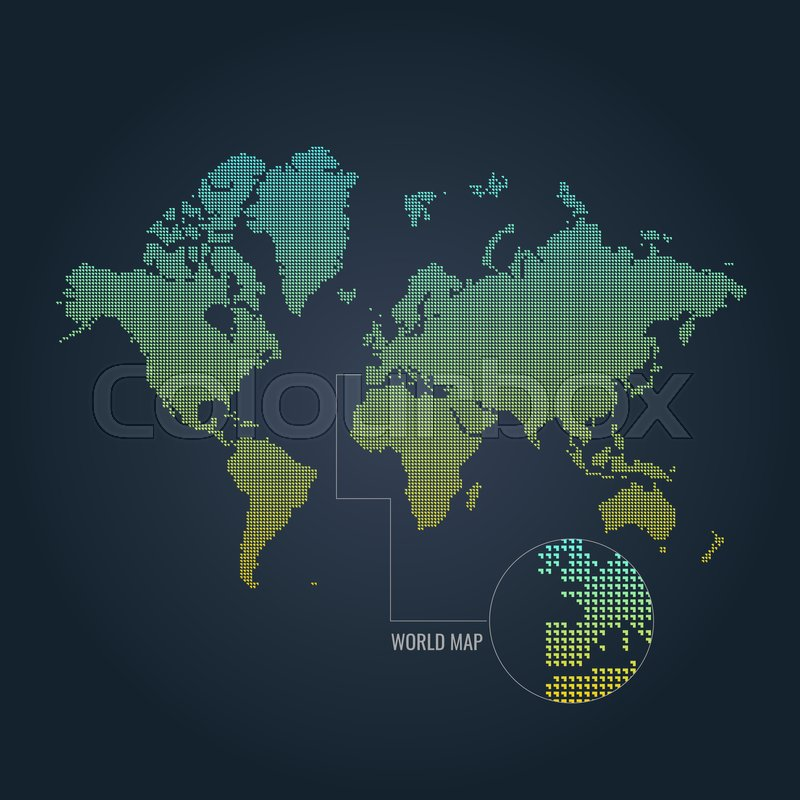 Dotted world map. Vector illustration. ...   Stock vector ...