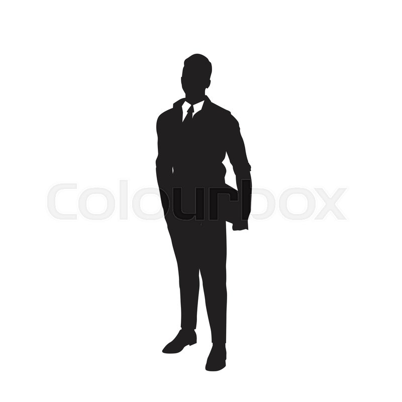 mypuzzledesign business man standing silhouette in - 800×800