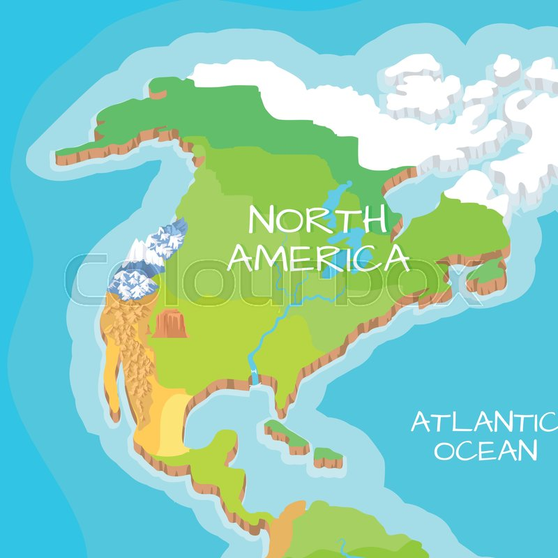 Australia mainland cartoon relief map with mountains climate australia mainland cartoon relief map with mountains climate zones oceans seas and islands flat vector illustration topographic physical atlas gumiabroncs Image collections