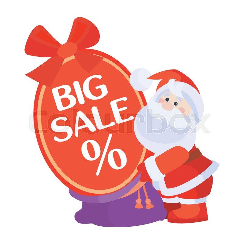 26ecab1efe11 Christmas big sale vector. Flat ...