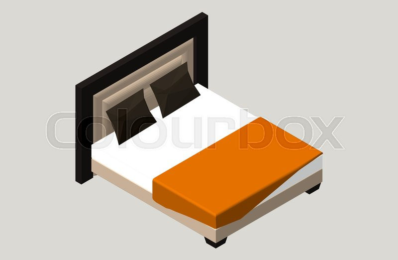 Isometric Home Furniture Bed Stock Vector Colourbox