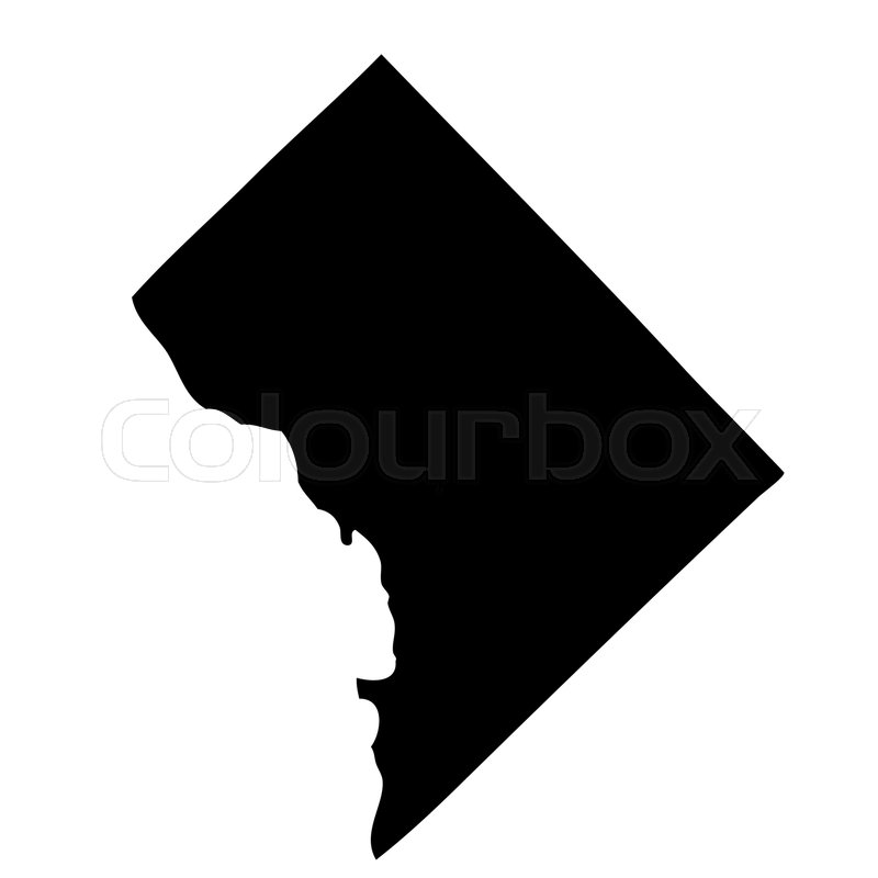 Map of the US District of Columbia Stock Vector Colourbox