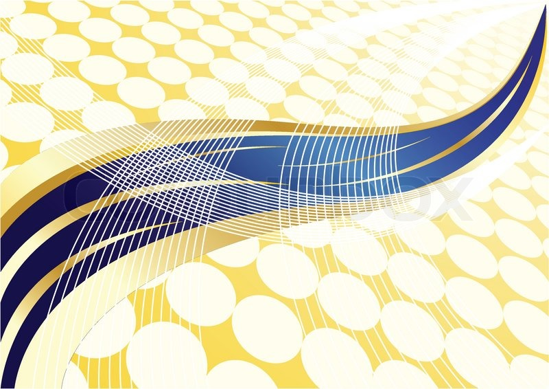 vector abstract gold and blue background with dot stock