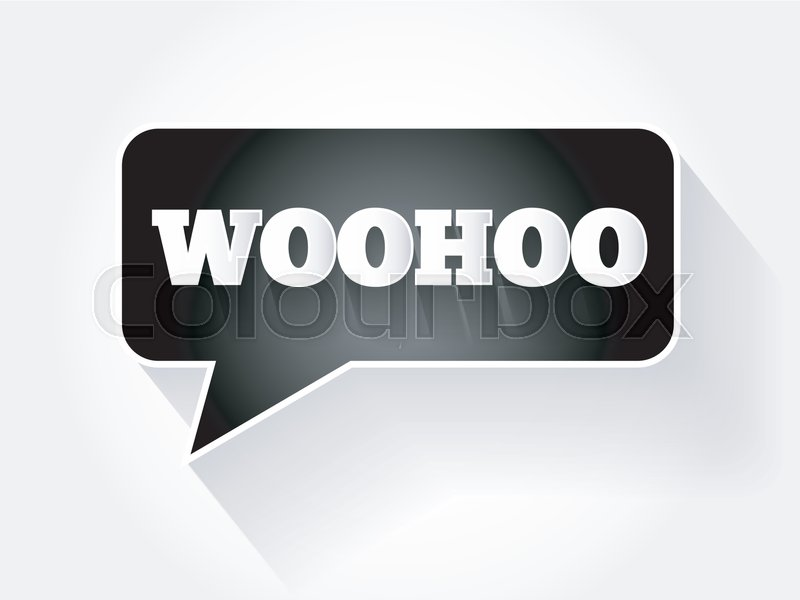Woohoo text message bubble flat business concept background stock woohoo text message bubble flat business concept background stock vector colourbox colourmoves