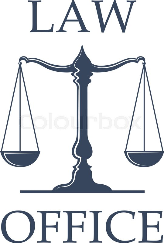 law or advocate office emblem. vector icon with scales of justice