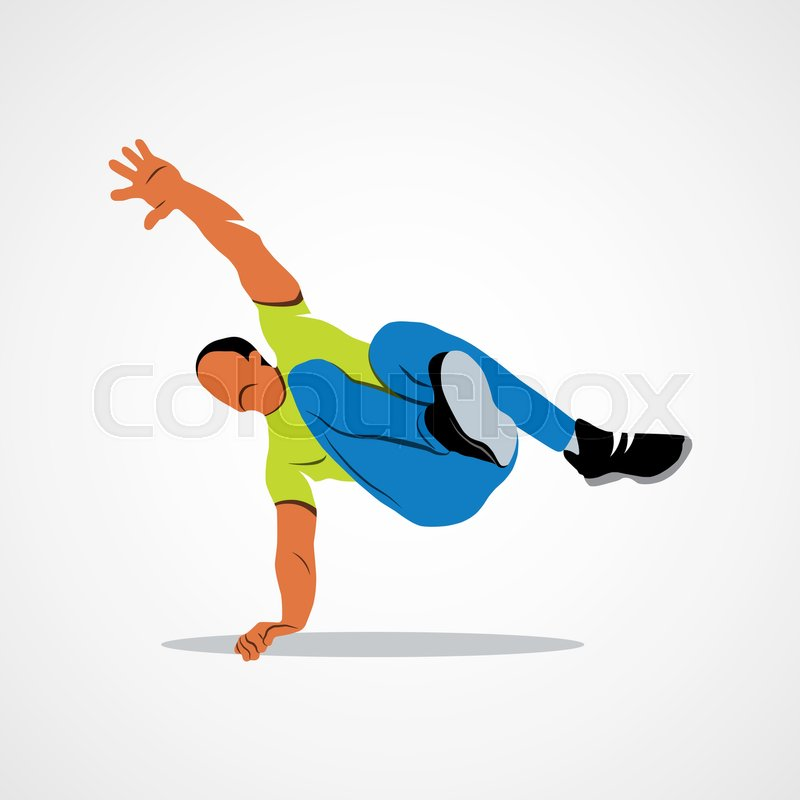 Abstract man jumping outdoor parkour on a white background. Vector illustration, vector