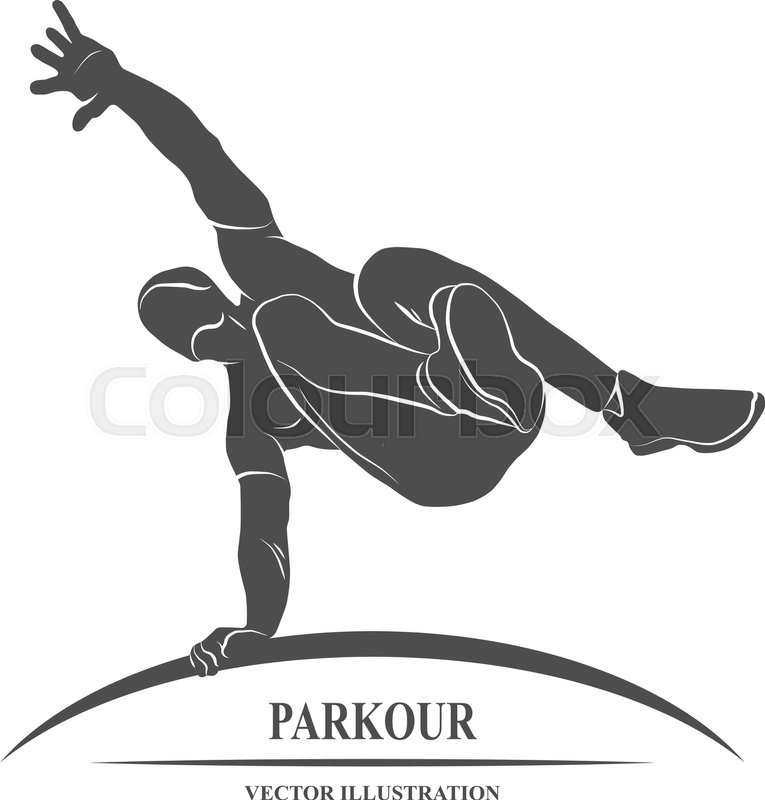 Icon man jumping outdoor parkour. Vector illustration, vector