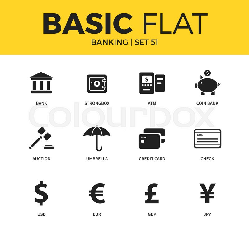 Basic Set Of Check Form Auction Icon Dollar Icon Euro Icon And