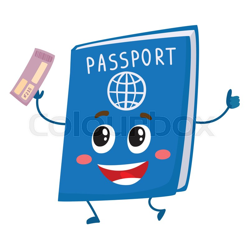 Cute And Funny Passport Identity Document Character