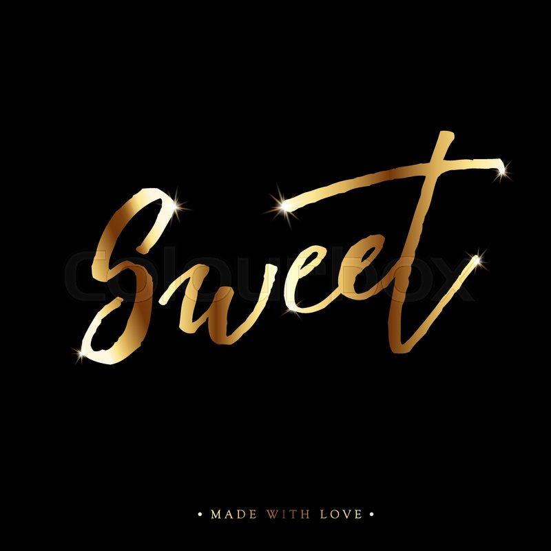 Sweet love calligraphy valentines day romantic greeting card sweet love calligraphy valentines day romantic greeting card handwritten modern brush lover lettering for love cards banners posters m4hsunfo