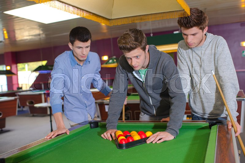 Billiard game, stock photo