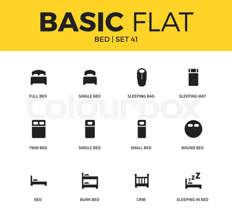 Basic set of single bed form, sleeping bag form, sleeping mat ...