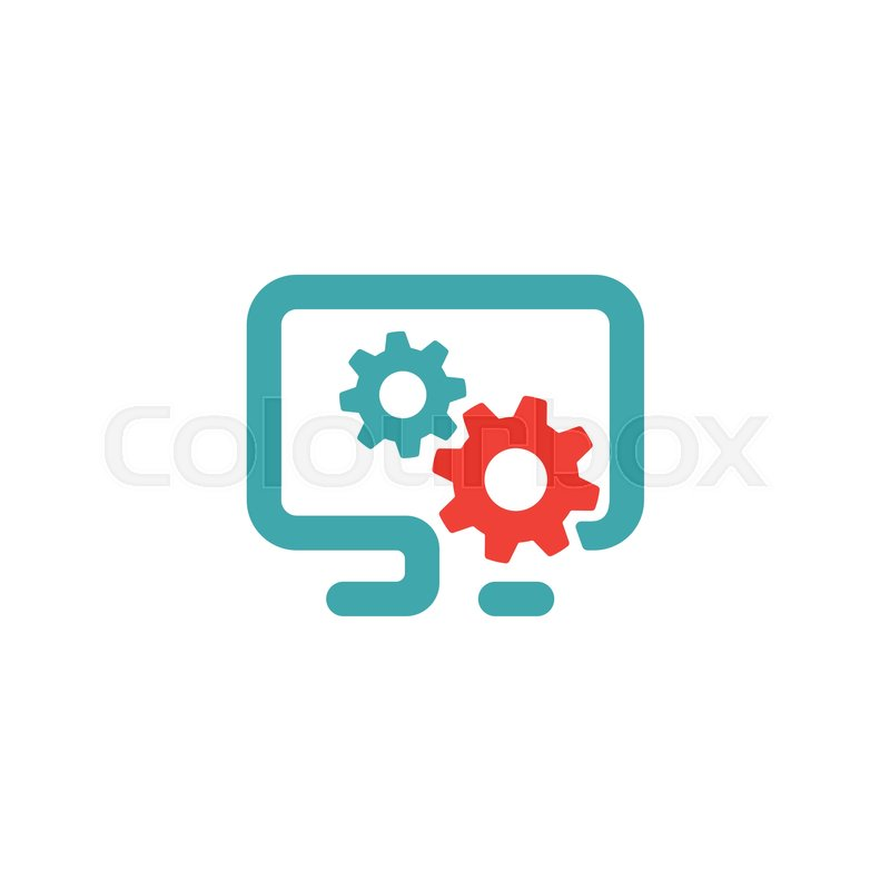 PC settings icon vector illustration      | Stock vector | Colourbox