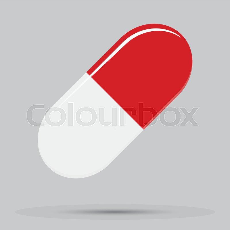 capsule tablet red white vector pharmaceutical capsule for