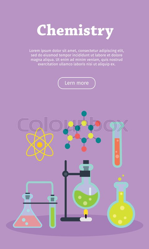 chemistry laboratory banner with