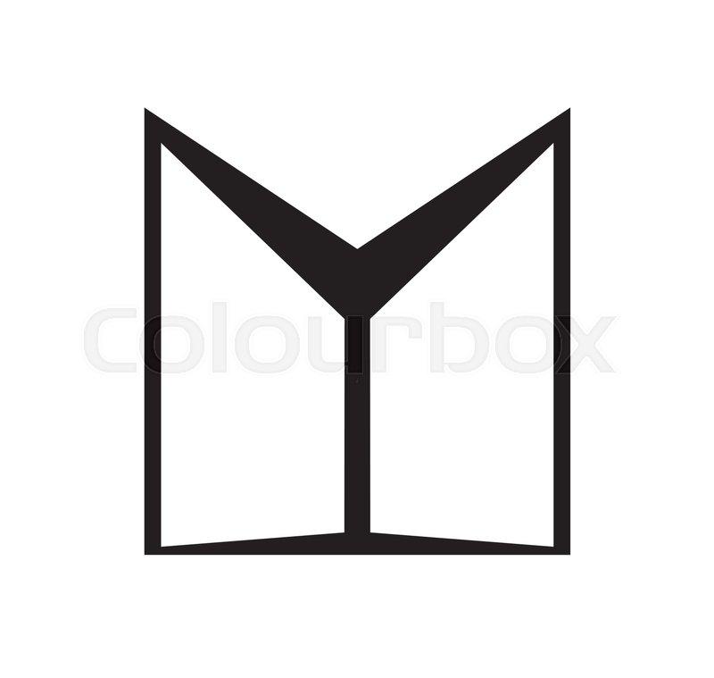 Double Door Icon Design Ai 10 Supported Stock Vector Colourbox