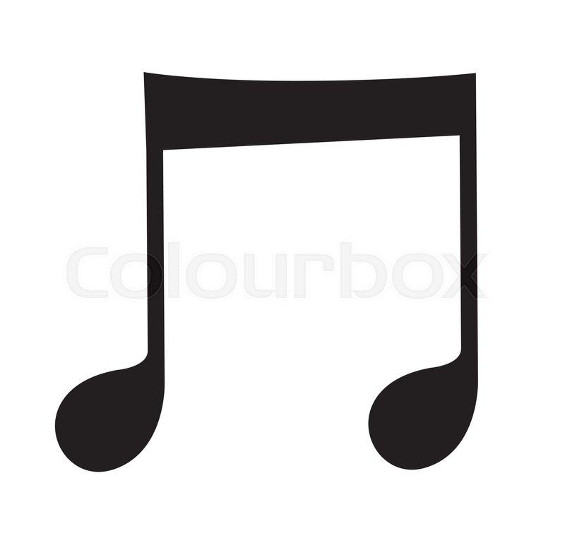 music note icon design ai 8 supported stock vector colourbox rh colourbox com Speech Bubble Icon Vector Paintbrush Icon Vector
