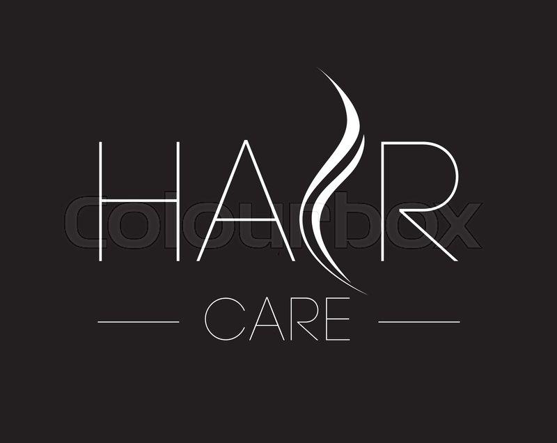 Hair Care Logo Design Concept Stock Vector Colourbox